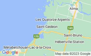 Map of Camping Municipal Saint-Gédéon