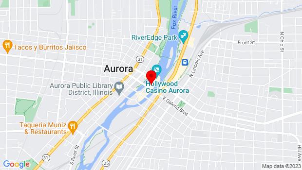 Google Map of 8 E Galena Blvd, Aurora, IL 60506
