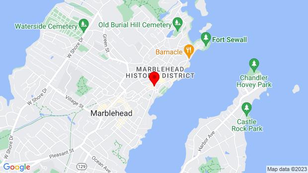 Google Map of 8 Hooper Street , Marblehead, MA 01945