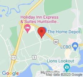 Google Map of 8+Ott+Drive%2CHuntsville%2COntario+P1H+0A2