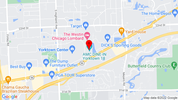 Google Map of 80 Yorktown Shopping Center, Lombard, IL 60148