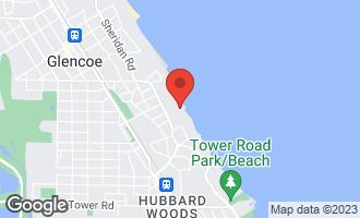 Map of 80 Wentworth Avenue GLENCOE, IL 60022