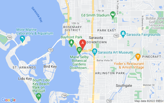 800 Hudson Ave #207 Sarasota Florida 34236 locatior map