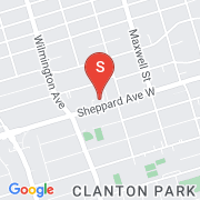 Road Map of 800 W Sheppard Ave, Toronto, On