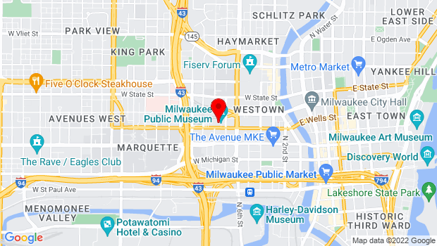 Google Map of 800 W. Wells Street, Milwaukee, WI 53233