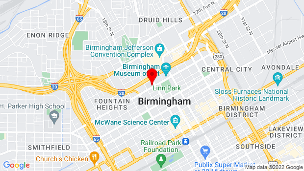Google Map of 800 19th St N, Birmingham, AL 35203