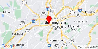 Google Map of 800 3rd Ave North Birmingham, Alabama 35203