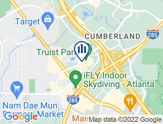Google Map of 800 Battery Avenue SE Atlanta, GA 30339