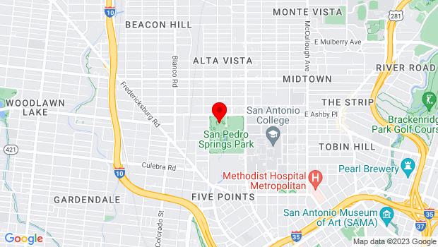 Google Map of 800 W. Ashby Pl, San Antonio, TX