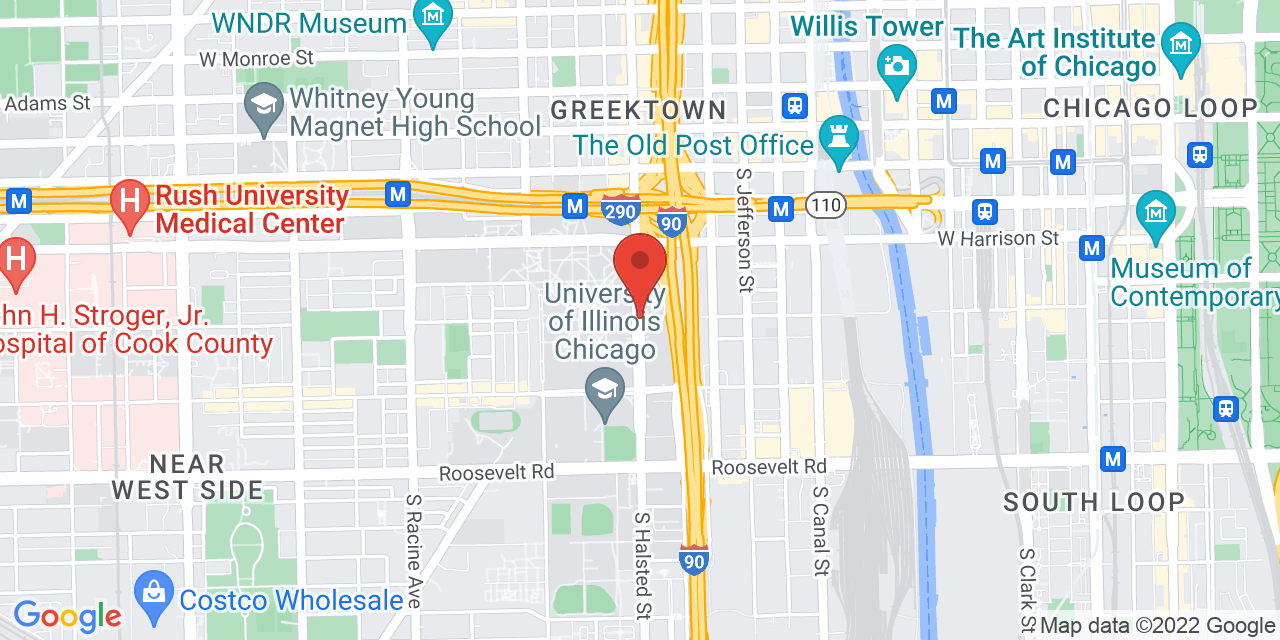 Google Map of 801 S. Halsted St.