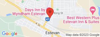 Google Map of 801+13th+Ave%2CEstevan%2CSaskatchewan+S4A+2L9