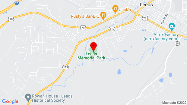 Google Map of 801 Helen St, Leeds, AL 35094