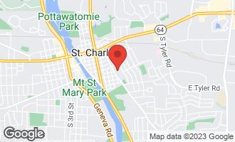 Map of 801 Washington Avenue ST. CHARLES, IL 60174