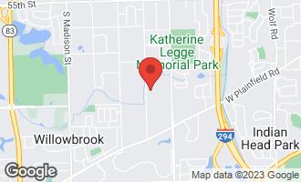 Map of 802 Burr Ridge Club Drive BURR RIDGE, IL 60527
