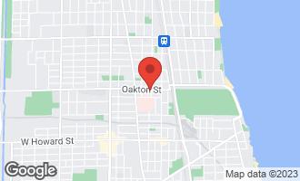 Map of 802 Oakton Street #1 EVANSTON, IL 60202