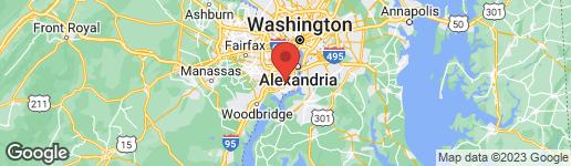 Map of 8036 CENTRAL PARK DRIVE ALEXANDRIA, VA 22309