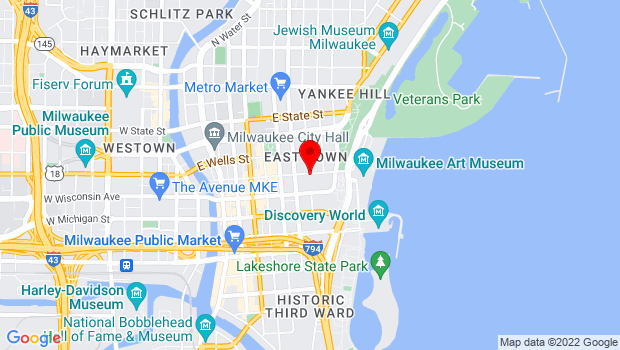 Google Map of 805 E Mason Street, Milwaukee, WI 53202