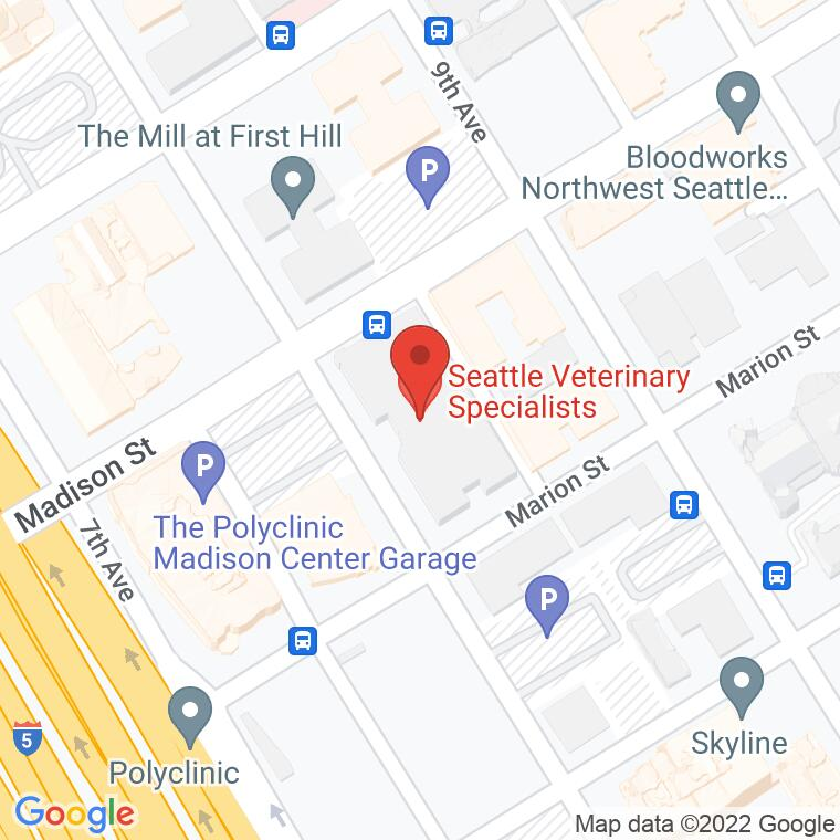 Google Map of 805 Madison Street Suite 100, Seattle, WA 98104, 805 Madison Street Suite 100, Seattle, WA 98104