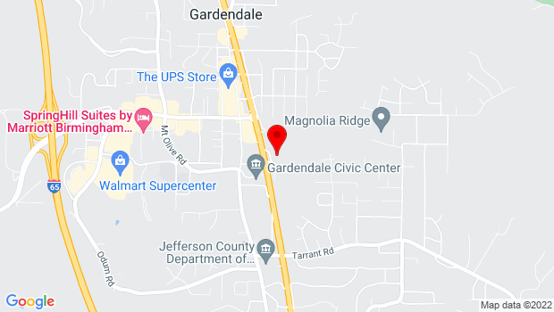 Google Map of 805 Crest Dr, Gardendale, AL 35071