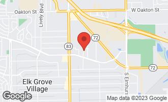 Map of 805 Dierking Terrace ELK GROVE VILLAGE, IL 60007