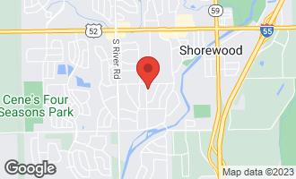Map of 808 Colonade Road SHOREWOOD, IL 60404