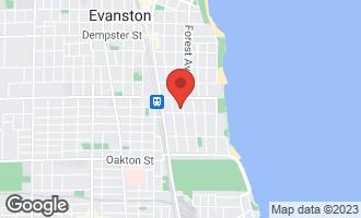 Map of 808 Judson Avenue 3G EVANSTON, IL 60202