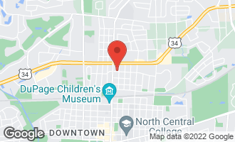 Map of 809 North Center Street NAPERVILLE, IL 60563
