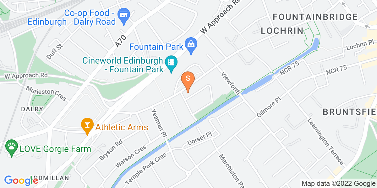 Google Map of 81 - 85 Dundee Street Edinburgh EH11 1AW