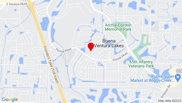 Google Map of 810 Florida Parkway, Orlando, FL