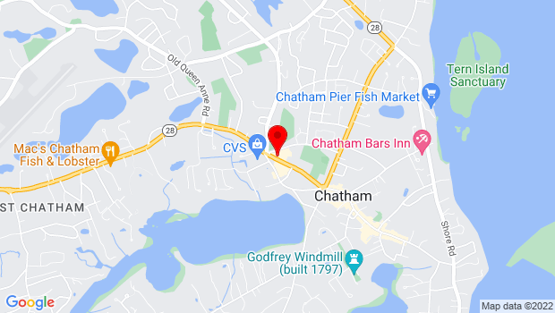 Google Map of 810 Main St, Chatham, MA