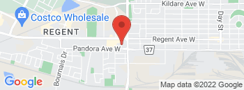 Google Map of 810+Regent+Ave.%2CWinnipeg%2CManitoba+R2C+3A8