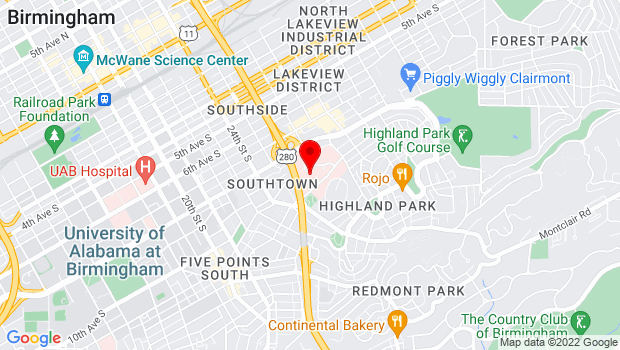 Google Map of 810 St. Vincent's Drive, Birmingham, AL 35205