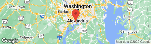 Map of 8109 Hinson Farm Rd Alexandria, VA 22306