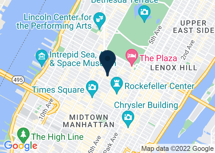 Map of 811 7th Avenue, New York, NY 10091, United States