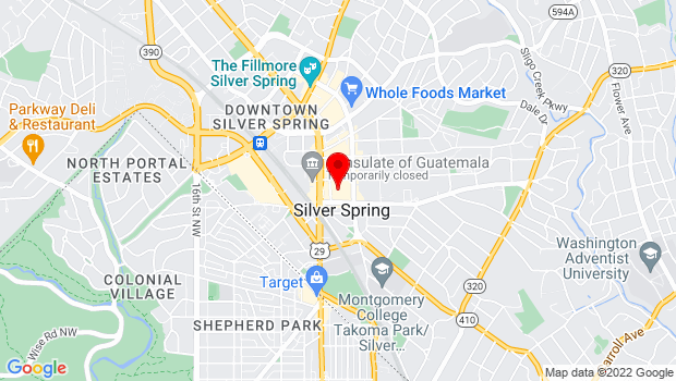 Google Map of 8110 Fenton Street, Silver Spring, MD 20901