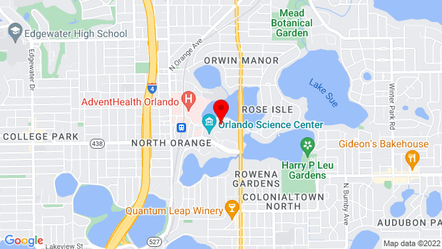 Google Map of 812 East Rollins Street, Orlando, FL
