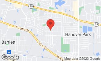 Map of 812 Hayward Avenue Streamwood, IL 60107
