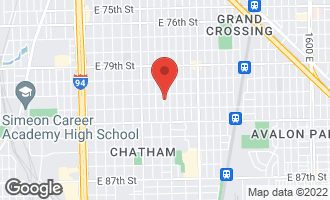 Map of 8125 South Rhodes Avenue CHICAGO, IL 60619