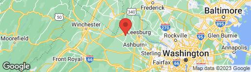 Map of 813 CANDLERIDGE COURT PURCELLVILLE, VA 20132