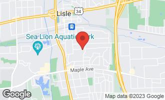 Map of 813 Gamble Drive LISLE, IL 60532