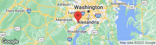 Map of 8131 RIDGE CREEK WAY SPRINGFIELD, VA 22153