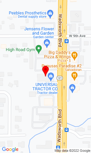 Google Map of Universal Tractor Co 815 Wadsworth Blvd, Denver, CO, 80214