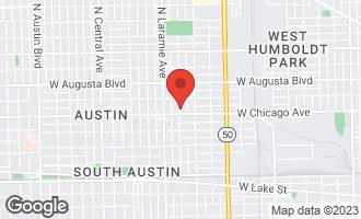 Map of 815 North Leclaire Avenue CHICAGO, IL 60651