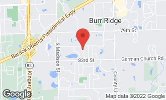Map of 8150 Ridgepoint Drive BURR RIDGE, IL 60527