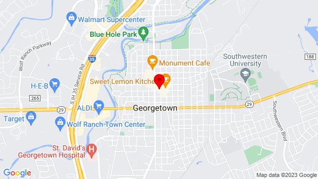 Google Map of 816 South Main Street, Georgetown, TX 78626