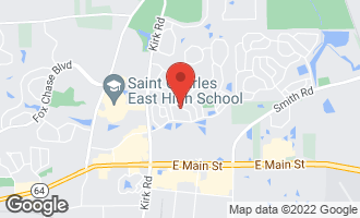 Map of 817 Arrowhead Lane ST. CHARLES, IL 60174