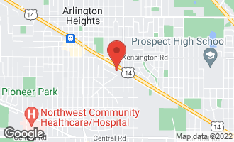 Map of 817 East Davis Street ARLINGTON HEIGHTS, IL 60004