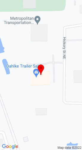 Google Map of Dahlke Trailer Sales Inc 8170 Hockry Street NE, Fridley, MN, 55432