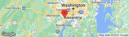 Map of 8172 CLIFFVIEW AVENUE SPRINGFIELD, VA 22153