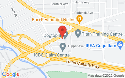 Map of 818 Brunette Avenue, Coquitlam, B.C., Canada
